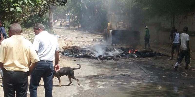 """Se producen protestas en el """"transfer"""" de basura del ASDE en Cancino Adentro"""