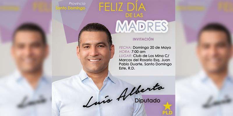 Luis Alberto celebrará por todo lo alto el Día de las Madres en el Club Los Mina, este domingo