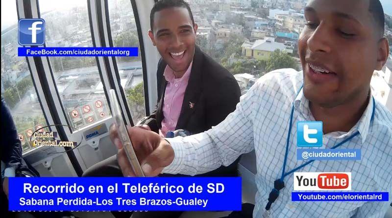 La experiencia de realizar el primer viaje en el telesférico de SD entre Sabana Perdida-Los Tres Brazos y Gualey