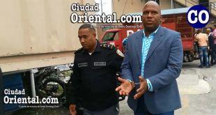 Víctor Joseury Trinidad Acosta, en custodia policial.