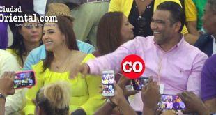Karen Ricardo y Luis Alberto durante el mitin danilista conectan con el público