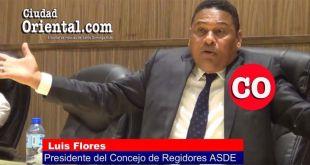 Luis Flores, Presidente del Concejo de Regidores del ASDE