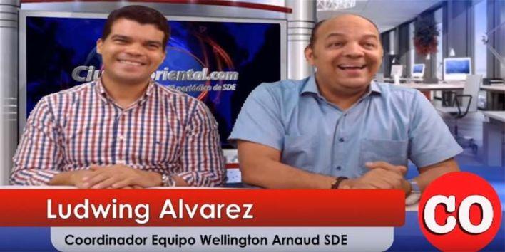 Wellington Arnaud (i) y Ludwing Alvarez