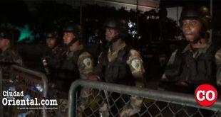 Cerco militar en el Congreso Nacional