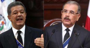 Leonel Fernández (i) Danilo Medina