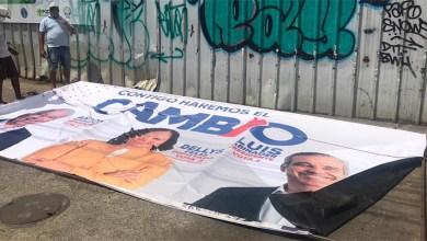 Photo of Candidata a diputada Dellys Feliz denuncia adversarios destruyen su publicidad