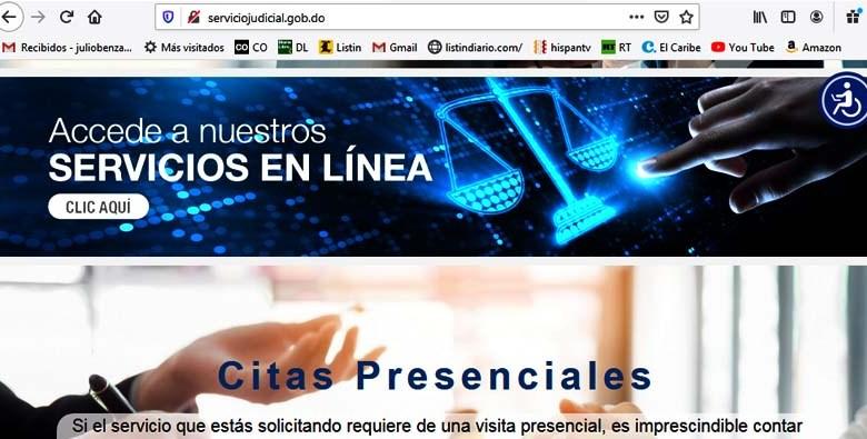 Plataforma serviciojudicial.gob.do