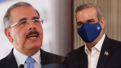 Danilo Medina (i) y Luis Abiander