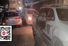 Policías en busca de fiestas clandestinas en Los Mina