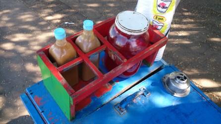 Tìpico carrito de un raspado (helado artesanal)