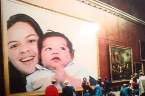 Fabiola y su hijo pequeñito