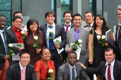Un gran día. Graduación Máster en Administración de Empresas, con enfoque en Pymes, en la Universidad de Leipzig, Alemania.