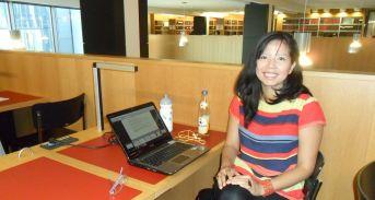 En la biblioteca de la Universidad de Leipzig, Alemania. Tiempos de escribir proyectos y tesis.