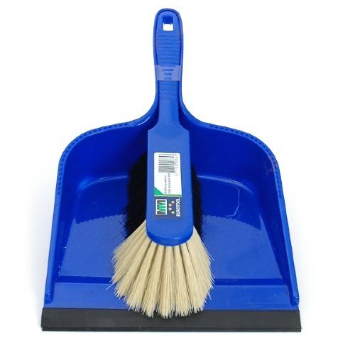 veger en blik schoonmaken
