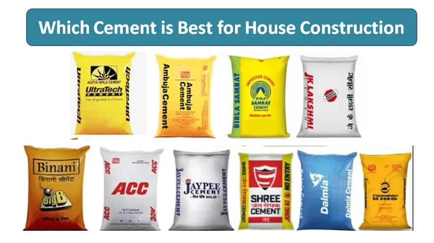 which cement is best for house construction