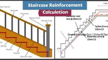 Staircase Reinforcement Calculation