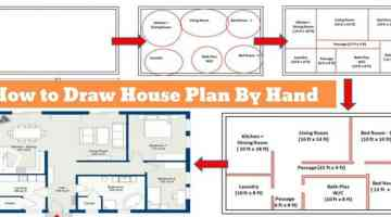 How to draw house plan by hand
