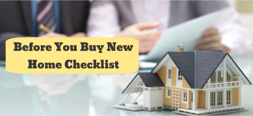 First Home Checklist