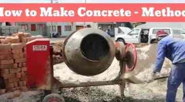 how to make concrete