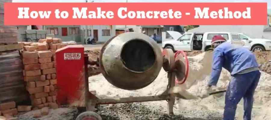 how to make concrete