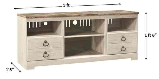 Standard Size of Tv sand or TV Table - 10 Types of Furniture in House and Their Standard Size