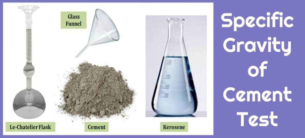 Specific Gravity of cement Test