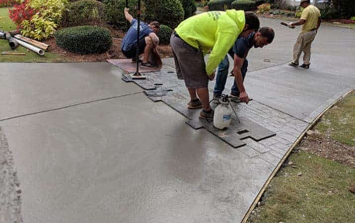 Stamped Concrete Process