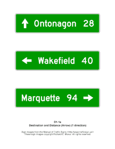 types of traffic signs