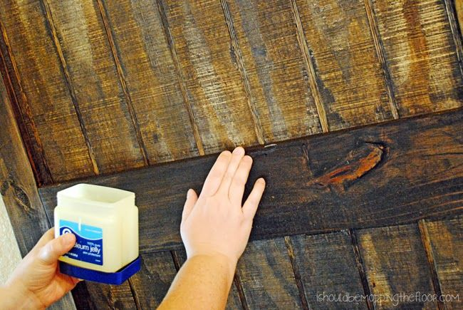Petroleum Jelly used to remove stain from wood