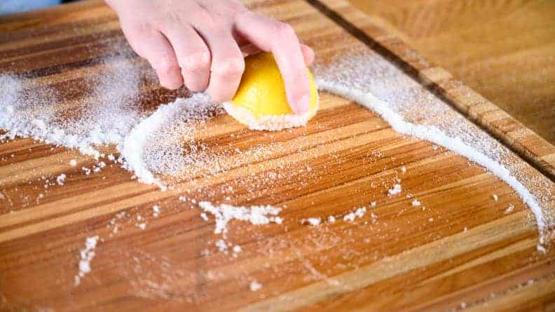 Salt to Remove Wood Stain