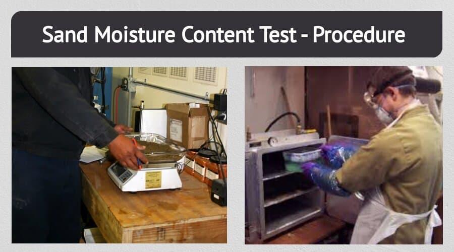 Sand Moisture Content Test
