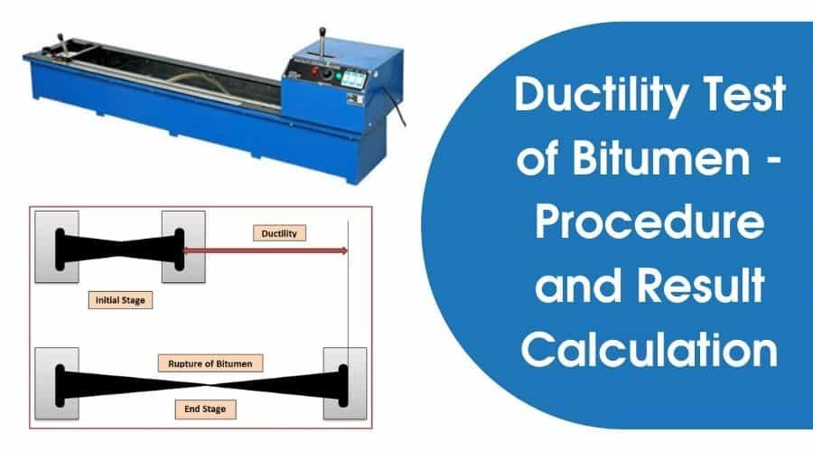 Ductility Test for Bitumen