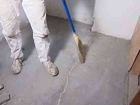 Surface Preparation before applying Hydraulic Cement