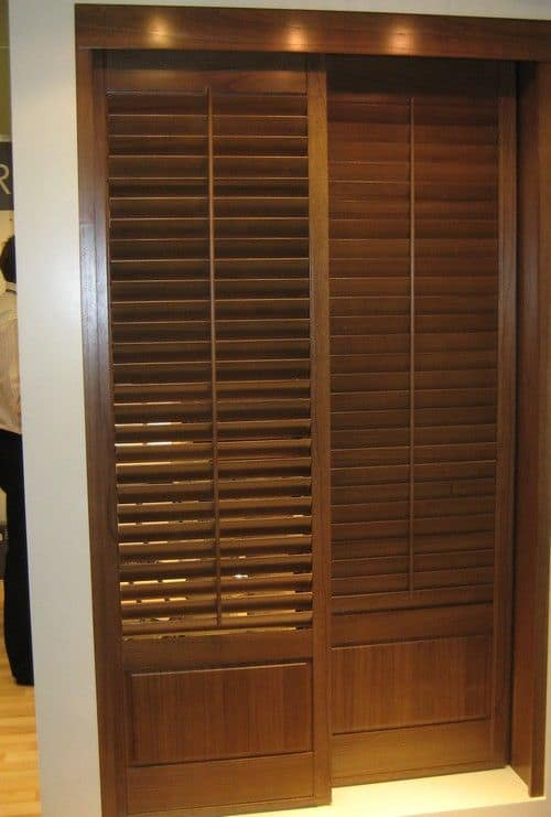 Oak Louvered Doors Design