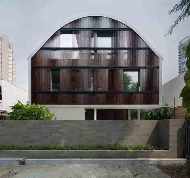 Oval Skillion Roof