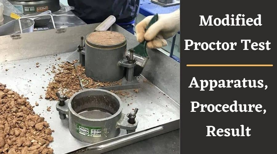 What Is Modified Proctor Test - Apparatus, Procedure, Result