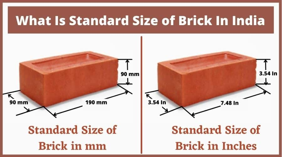 What Is Standard Size of Brick In India