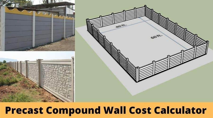 Precast Boundary Wall Cost Calculator