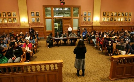 Students compete in 19th annual Martin Luther King, Jr. Oratory Competition.