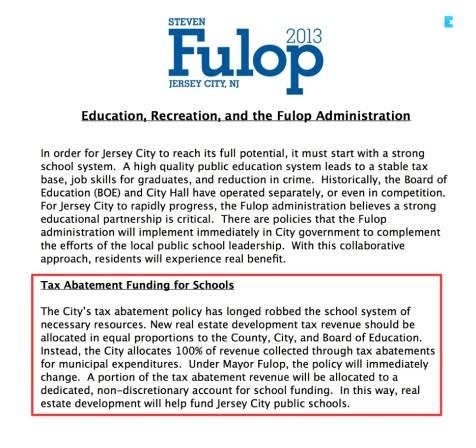 Fulop Campaign Pledge