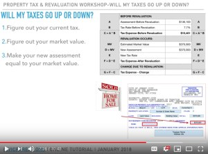 Property Tax Revaluation: Will my property tax expense go up or down? (YouTube Video)