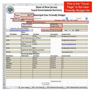 "The ""User Friendly Budget"", Part 3:  the ""Cover Page"", an Inventory of NJ's 565 Municipalities, & An Overview of How UFB Data was Compiled"