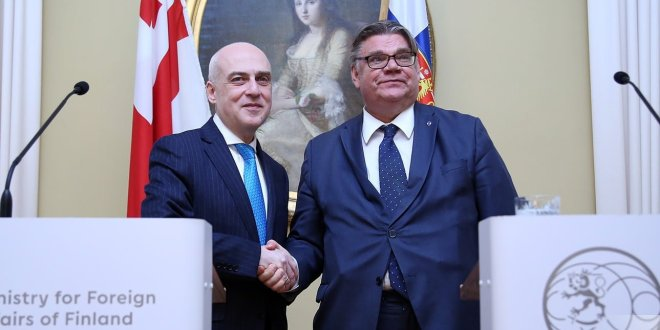 Georgian, Finnish Foreign Ministers Meet, Discuss Enhancing Ties