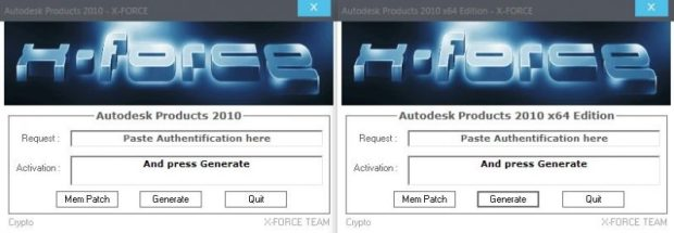 Autodesk 2010 All Products Keygen by X-Force