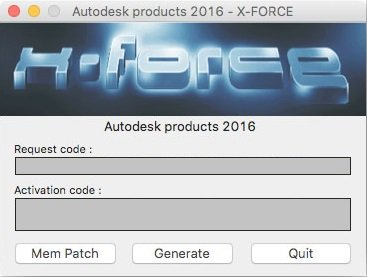 Autodesk 2016 All Products Keygen MAC by X-Force