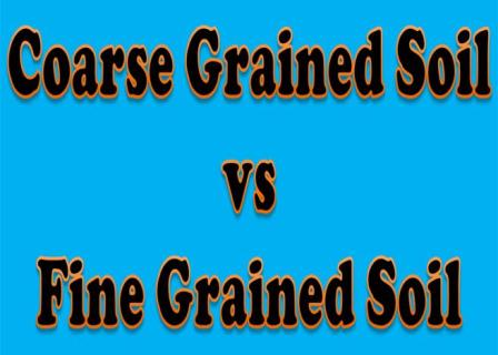 What are the differences between coarse grained fine for Mineral soil vs organic soil