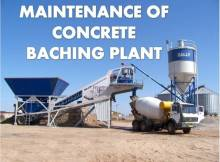 MAINTENANCE OF CONCRETE BATCHING PLANT