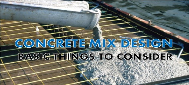 concrete mix design - basic consideration