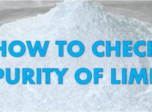 how to check purity of lime