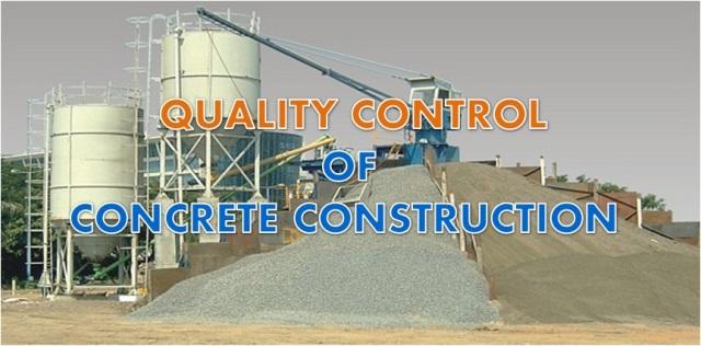 Quality control of concrete construction